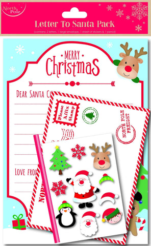 Santa - Santa Father Christmas Children's Wish List Letter - With Addressed Envelope