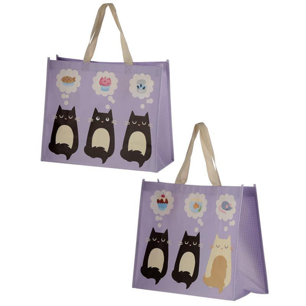 Cat Design Durable Reusable Shopping Bag - Feline Fine