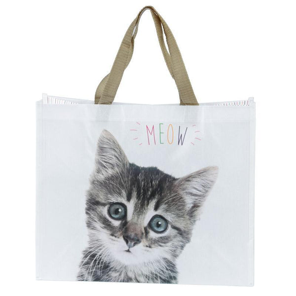 Cute Cat Design Durable Reusable Shopping Bag - Meow!
