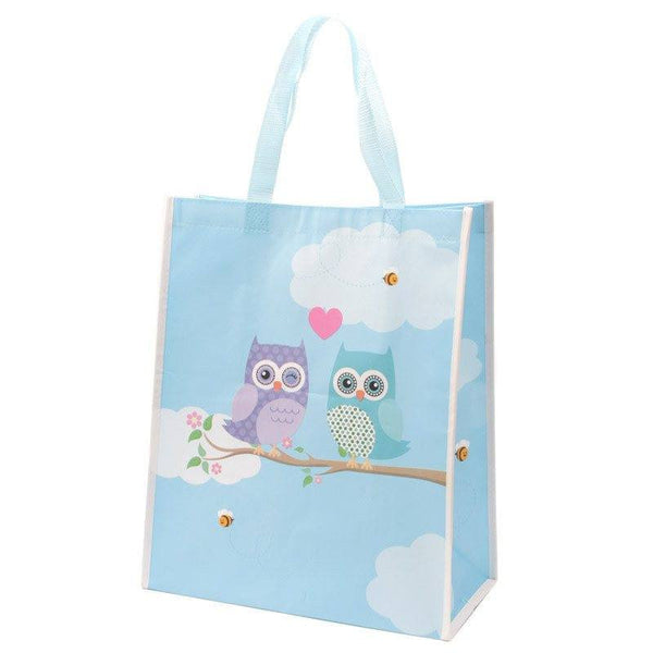 Love Owls Shopping Bag - H 39.5cm W 33cm D 16cm