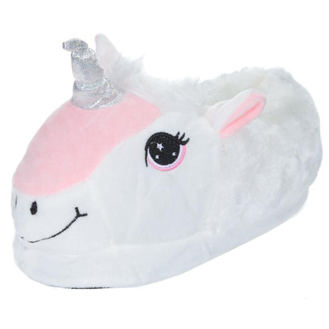 Slippers - Plush Unicorn Slippers - Children's One Size