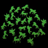 Unicorn Glow In The Dark Stickers Decal Wall Art Room Decor  24 Pc Unicorns