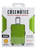 Travel suitcase cover - Medium - perfect for ensuring your luggage stands out!- Green