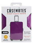 Travel suitcase cover - Medium - perfect for ensuring your luggage stands out! -Purple
