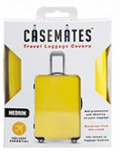 Travel suitcase cover - Medium - perfect for ensuring your luggage stands out! -Yellow
