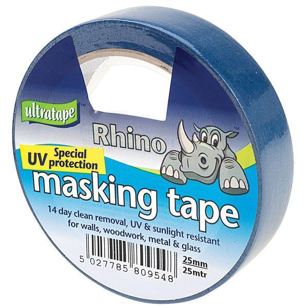 Rhino Ultratape - UV Resistant Masking Tape 25mm x 25M - Blue