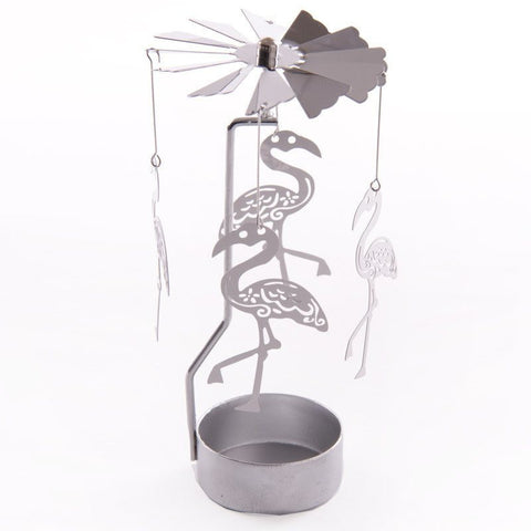 Tealight - Metal Tealight Spinner - Flamingo Design