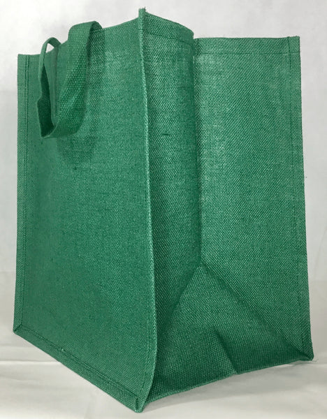 Large Green Shopper Bag - Jute Tote