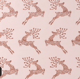 Glitter Rollwrap Paper Gift Wrap Roll - 2M - Leaping Reindeer