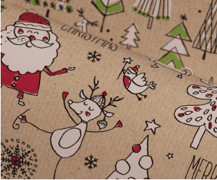 Printed Kraft Paper Gift Wrap Pack 1 Roll - 3M - Doodles Christmas