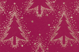 Glitter Rollwrap Paper Gift Wrap Roll - 2M - Winter Forest Silver Dotty Tree on Red