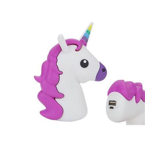 USB Charger Power Bank - Portable Unicorn USB Charger Power Bank For Mobile Devices - 2000 MAh