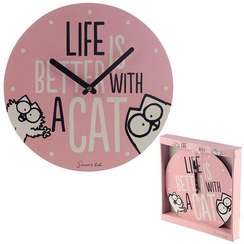Wall Clock - Simon's Cat - Decorative Wall Clock - Life Is Better With A Cat!