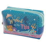 Handy PVC Make Up Toilette Wash Bag - Mermaid