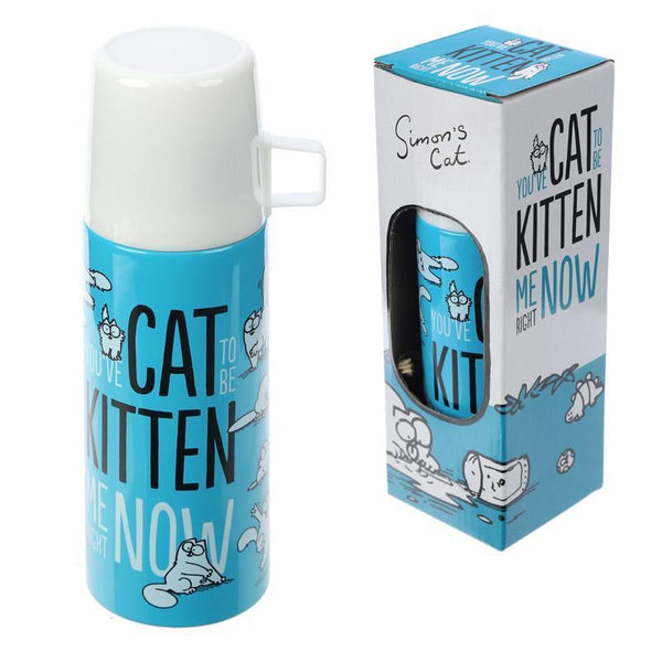 Funky 350ml Flask - You've Cat To Be Kitten Me Now!