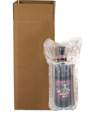 Wine & Beer - Airsac Kit For Shipping Single (1) Bottle Of Lager, Beer Or Cider - Postal Pack