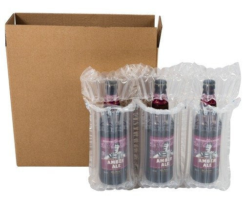 Airsac kit for shipping three (3) bottles of lager, beer or cider - Postal Pack