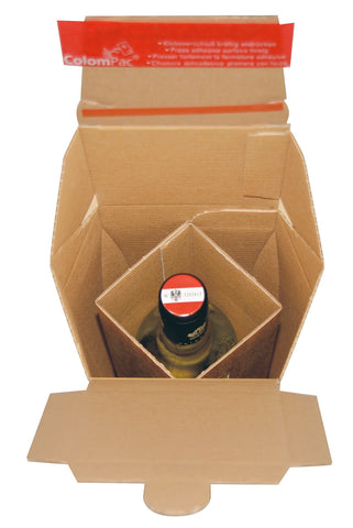 Wine & Beer - Anti Shock Glass Bottle Packaging - Postal Pack