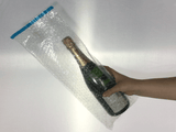 Pack of 10 - Champagne Bottle Bubble Wrap Bags - 180 x 435mm + Self seal lip - 10 pk