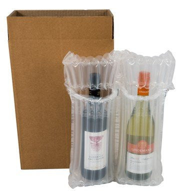 Twin (2) Wine & Beer Bottle Airsac Kit - Postal Pack