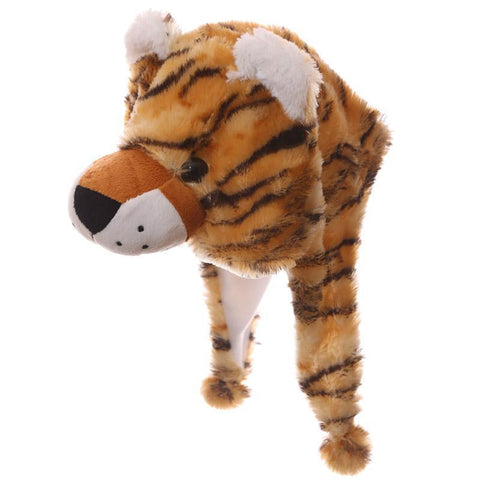 Woolly Hat - Wild Woolies Plush Tiger Hat - Woolly Hat