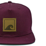 Load image into Gallery viewer, Burgundy 'n' Leather Snapback - norst