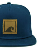 Load image into Gallery viewer, Navy 'n' Leather Snapback - norst