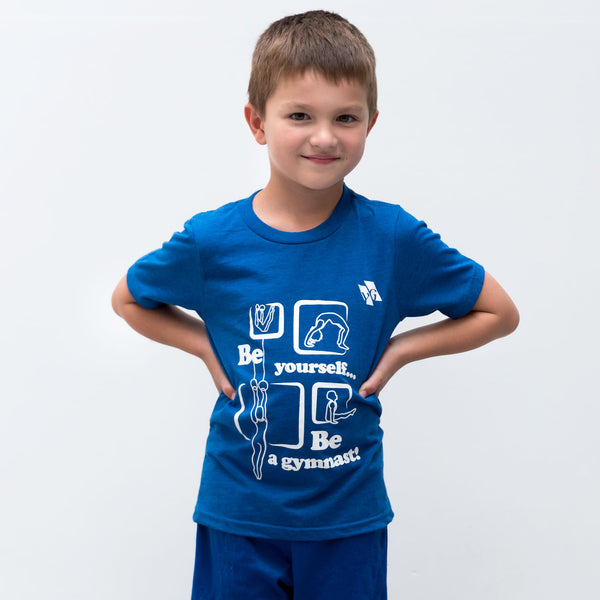 "Gymnastics Recreational Shirt - ""Be yourself, Be a gymnast"" (Boys)"