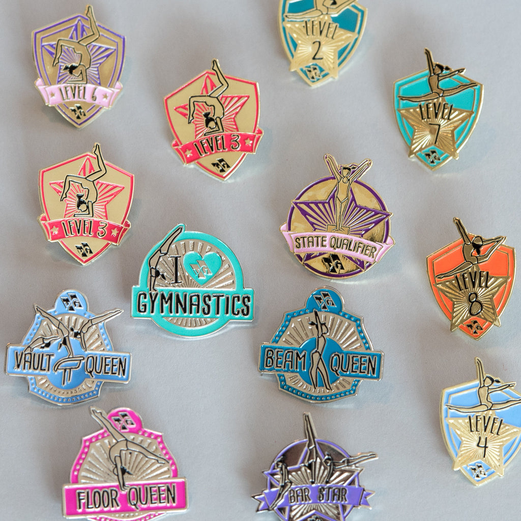 Motivational Gymnastics Pins (set of 10)