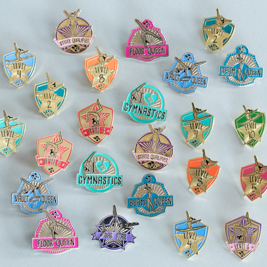 Motivational Gymnastics Pins (set of 70)
