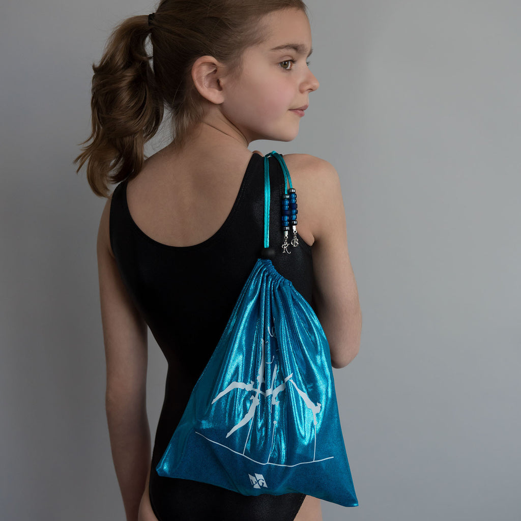 Gymnastics Grip Bag - Blue Metallic (Pak Salto)