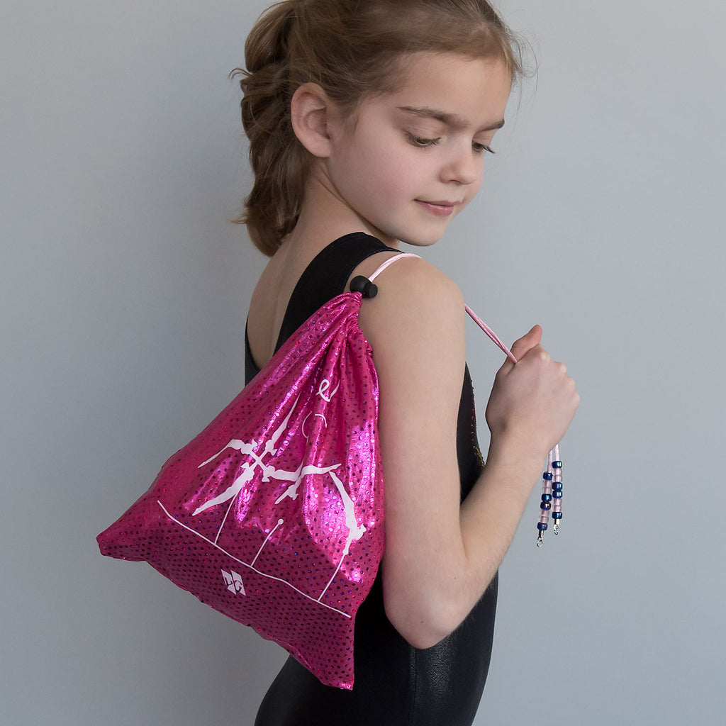 Gymnastics Grip Bag - Pink Metallic Dots (Pak Salto)