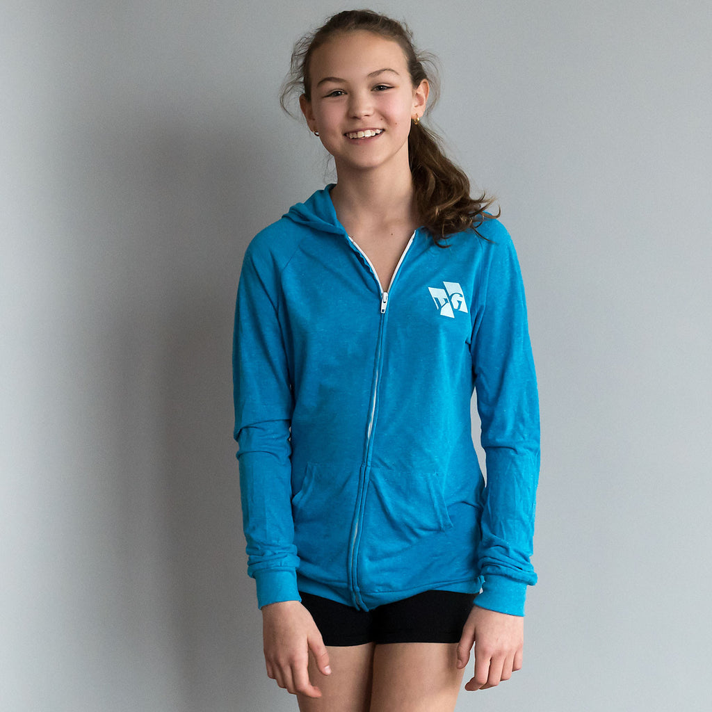 "Gymnastics Hoodie - ""Motivation"" (Zip Front)"