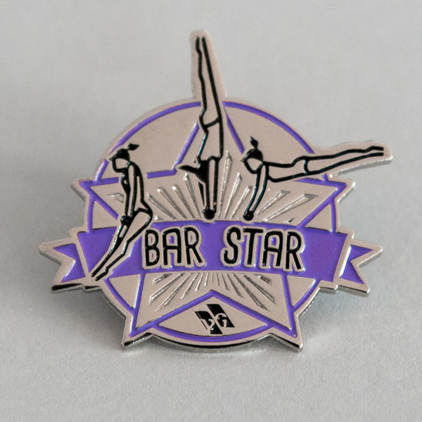 "Gymnastics Pins - ""Bar Star"" Pin"