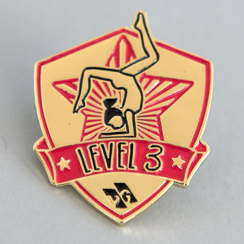 "Gymnastics Pins - ""Level 3"" Pin"