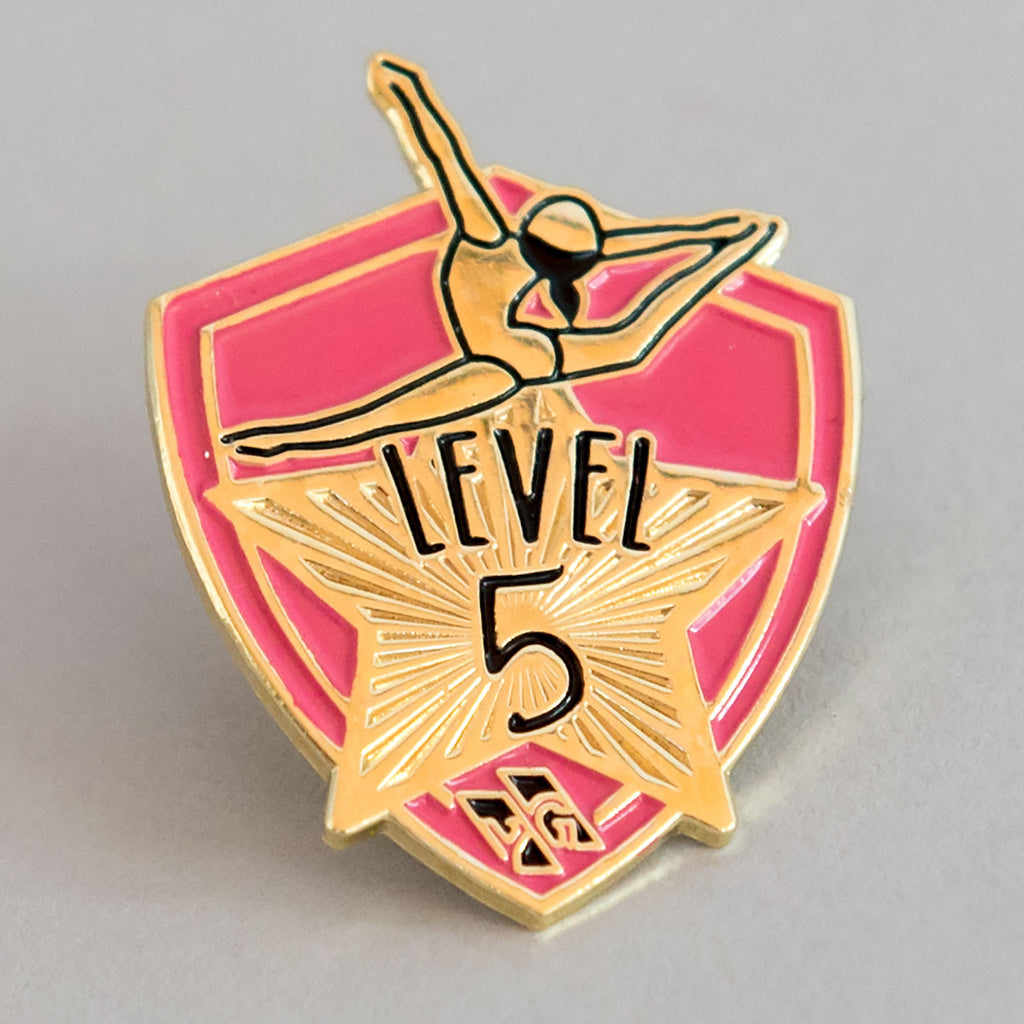 "Gymnastics Pins - ""Level 5"" Pin"