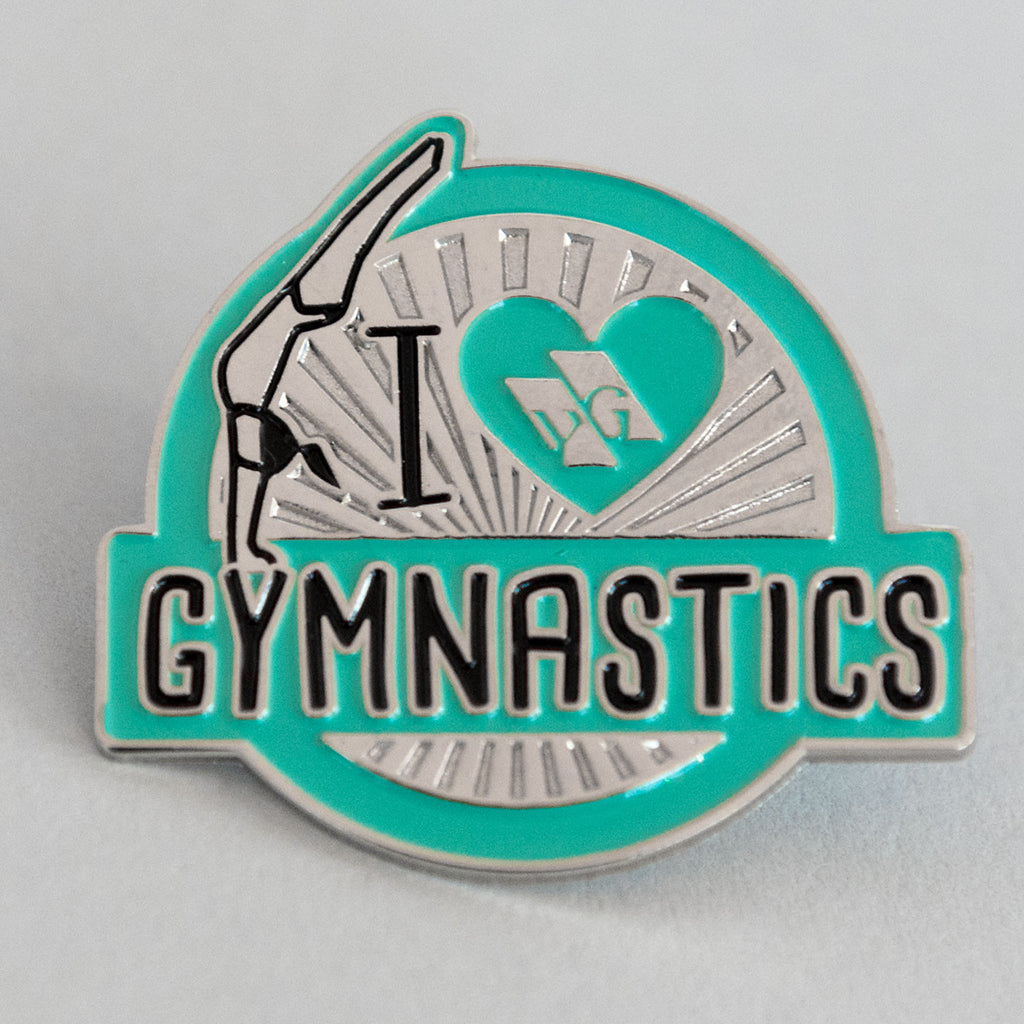 "Gymnastics Pins - ""I Love Gymnastics"" Pin"