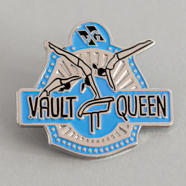 "Gymnastics Pins - ""Vault Queen"" Pin"