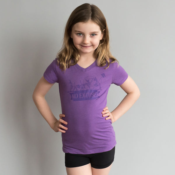 "Gymnastics Shirt - ""No Excuses"" (Girls)"
