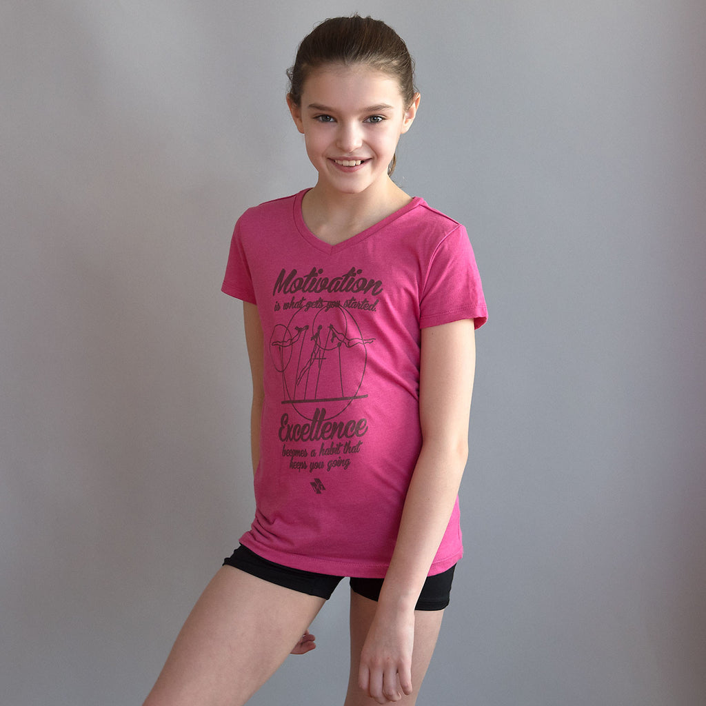 "Gymnastics Shirt - ""Motivation"" (Girls)"
