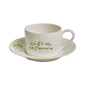 Café de la Semaine Coffee Cup and Saucer
