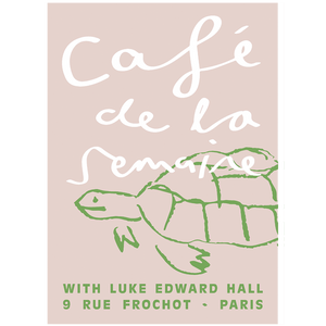 Semaine x Luke Edward Hall Pink Tobias the Tortoise Poster