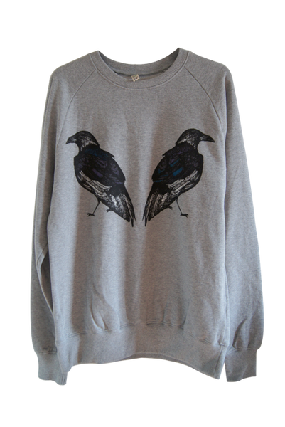 Ravens Grey Organic Cotton Sweatshirt