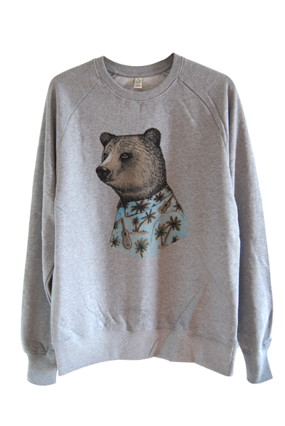 Bear Grey Organic Cotton Sweatshirt