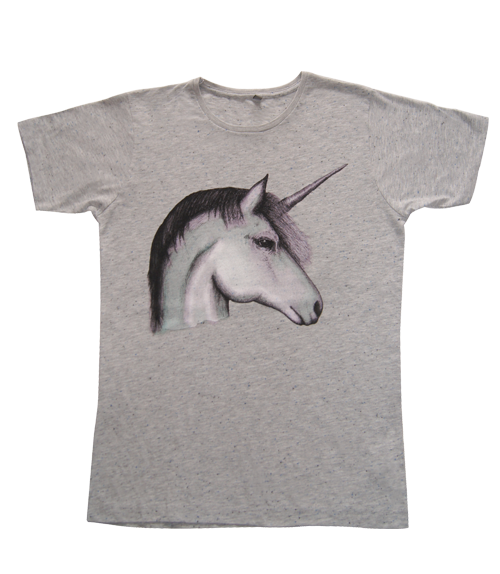Unicorn Speckled Grey Fair Trade T-shirt