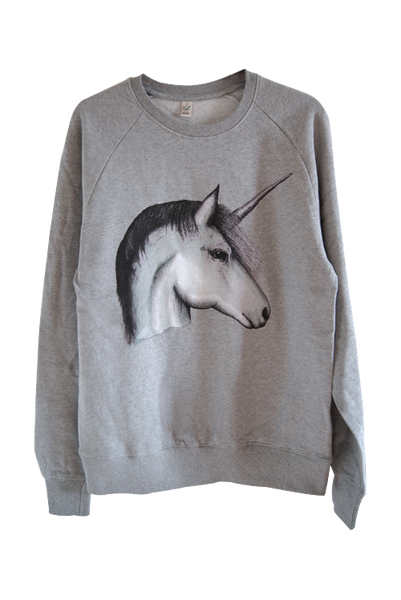 Unicorn Grey Organic Cotton Sweatshirt