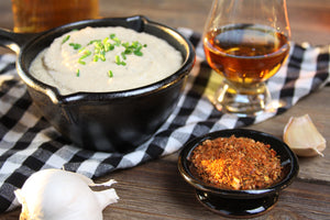 Whiskey Maple Caramelized Onion Dip