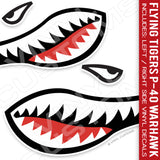 Flying Tigers Shark Mouth Vinyl Decal Stickers (Version 1)