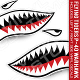 Flying Tigers Shark Mouth Vinyl Decal Stickers (Version 2)