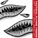 Flying Tigers Shark Mouth Vinyl Decal Stickers Tactical (Version 2)